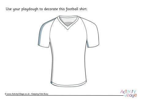 football shirt playdough mat