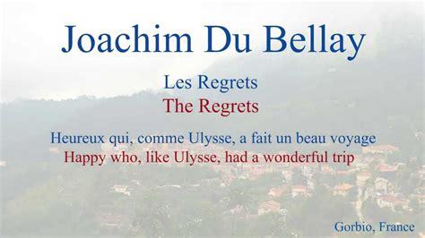 french poem heureux qui comme ulysse  joachim du