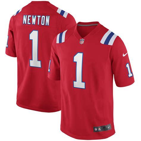Men's Nike Cam Newton Red New England Patriots Alternate ...