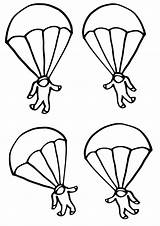 Parachute Coloring sketch template
