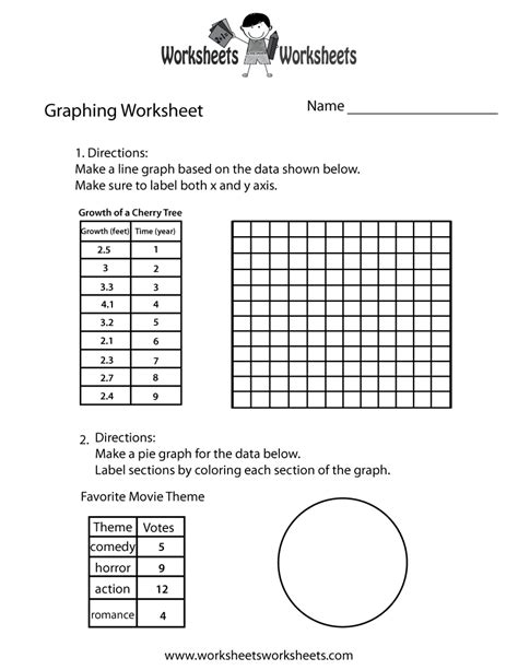 make a graph worksheet free printable educational worksheet