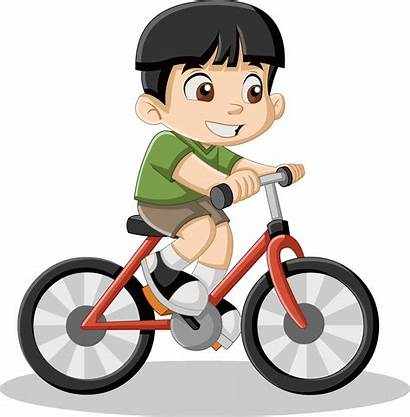 Bike Cartoon Cycling Boy Riding Bicycle Cyclist