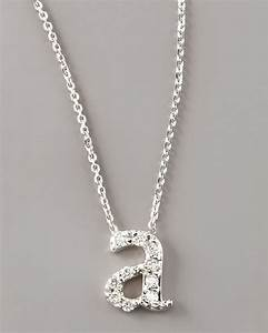 kc designs diamond letter necklace a in white lyst With letter necklace a