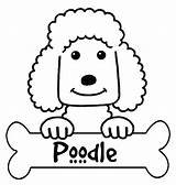 Poodle Coloring Pages Printable French Silhouette Outline Skirt Colouring Getdrawings Standard Silhouettes Designlooter Getcolorings sketch template