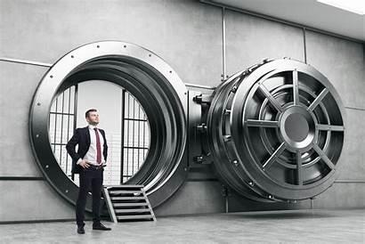 Vault Open Money Door Bank Wide Volta