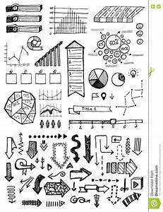 Vector Hand Drawn Business Infographics Sketch Or Set