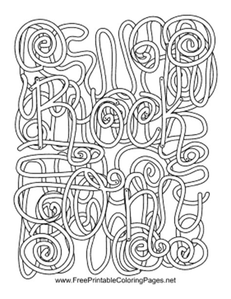 rock  roll hidden word coloring page