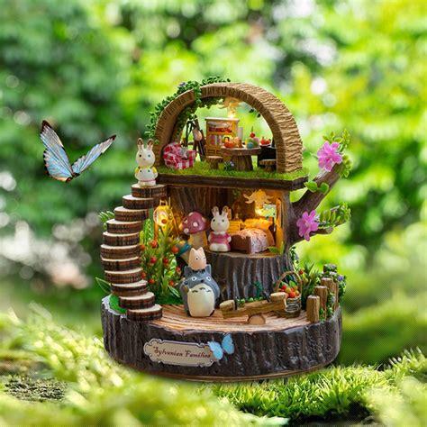 Doll House Furniture Diy Miniature 3d Wooden Miniaturas