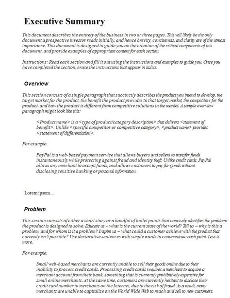 22 executive summary sles pdf doc exles