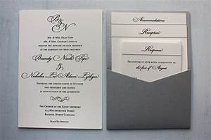 formal black cream monogram with silver clutch wedding With samples of silver wedding invitations