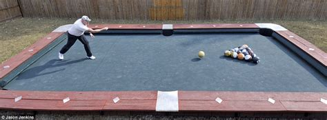 how big is a bar pool table big break giant pool table is 30 feet long and uses 6lb