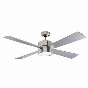 52 U0026quot  1300mm Fanworks Impreza Brushed Chrome Ceiling Fan