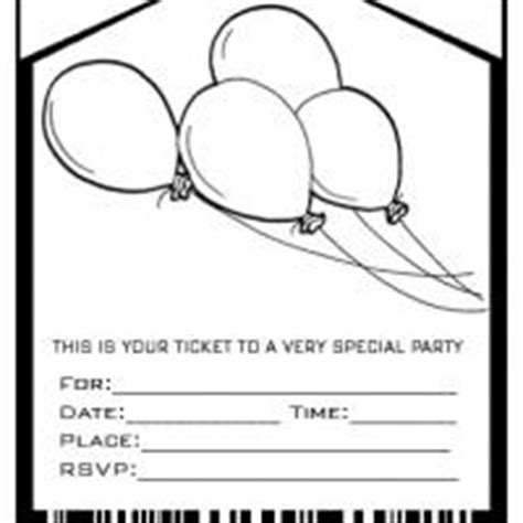 Balloons Admit One Party Invitation Envelope