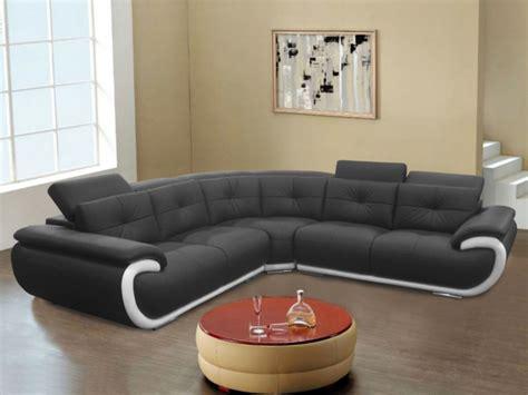 canapé cuir 6 places canapé angle cuir 6 places noir blanc ou gris blanc smiley