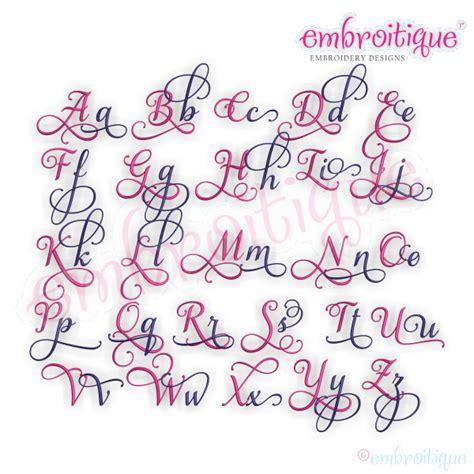 year created  aurora script monogram set  beautiful calligraphy interchangeable