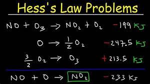 Hess U0026 39 S Law Problems  U0026 Enthalpy Change - Chemistry