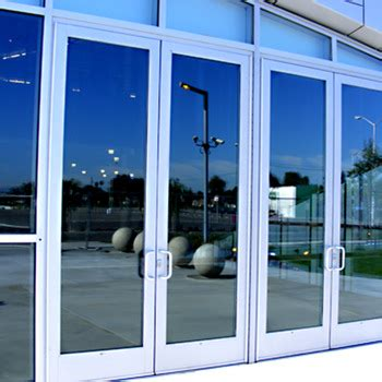 glassaluminum doors repair  installation barr commercial doors orange county san