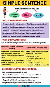 Simple Sentence  Examples And Definition Of Simple