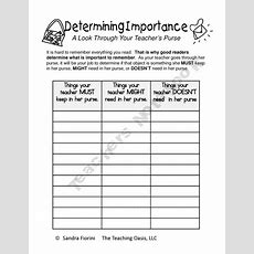 17 Best Images About Reading  Determining Importance On Pinterest  Student, Nonfiction And