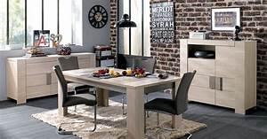 Salle a manger atlanta par conforama for Idee deco cuisine avec meuble salle a manger chene blanchi