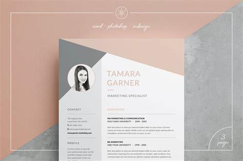 resumecv tamara resume templates creative market