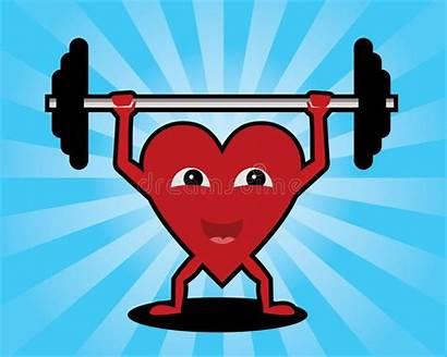 Heart Lifting Weights Vector