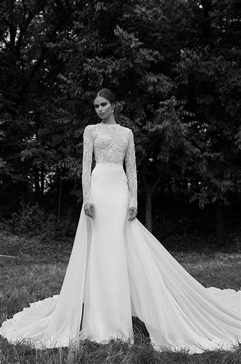 Simply elegant long sleeves wedding dress from Berta