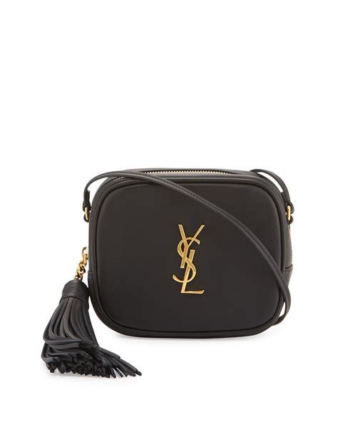 saint laurent monogram ysl blogger crossbody bag black