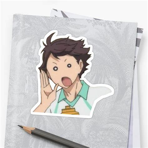 tooru oikawa sticker by urmomxox redbubble