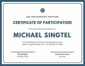 Certificate Of Participation Template Free Customize 48 Attendance Certificate Templates Online Canva