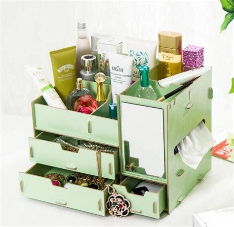 Rak Kosmetik Bahan Plastik jual beli rak kosmetik bahan kayu bercermin dan
