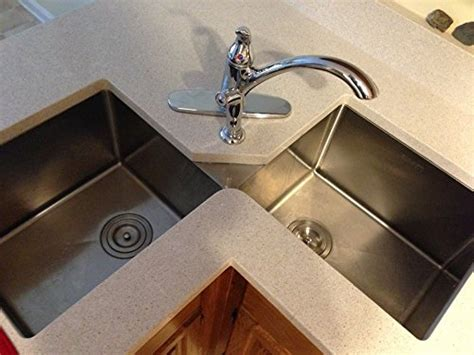 ruvati double bowl rvh undermount corner kitchen sink  gauge  bowl  ebay
