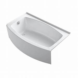Shop KOHLER Expanse 60 In White With Left Hand Drain At