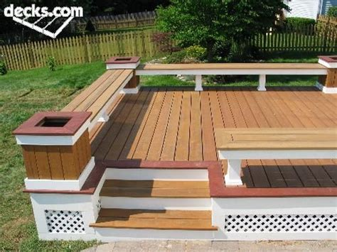 trex custom benches  flower boxes deck ideas anne