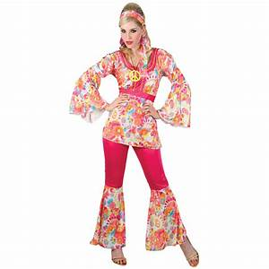 New Ladies Hippie Honey 60s Hippy Fancy Dress Sixties ...