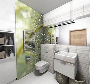 Kleine Moderne Badezimmer : moderne wandgestaltung im badezimmer fototapete mit tropfen mustern bad pinterest ~ Sanjose-hotels-ca.com Haus und Dekorationen