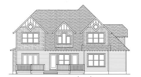 bedrm  sq ft arts  crafts house plan