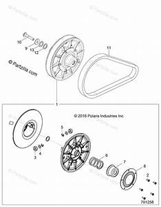 Polaris Side By Side 2019 Oem Parts Diagram For Drive Train  Secondary Clutch