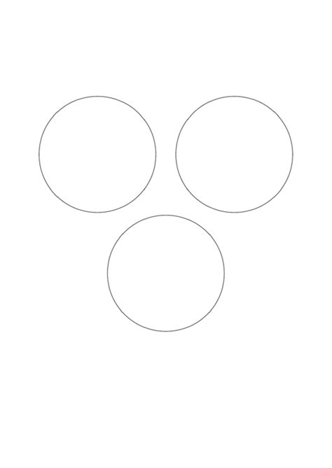 venn diagram template  setsno intersection