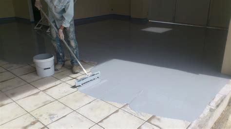 garage floor paint over ceramic tile wood metal marble terrazzo tiles can we apply epoxies on these surfaces learncoatings