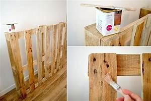 Comment Faire Un Lit En Palette : comment faire une tete de lit en palette ~ Nature-et-papiers.com Idées de Décoration