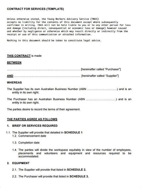 service contract template beepmunk