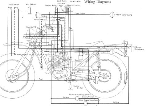 1971 yamaha ct1 wiring diagram yamaha at2 wiring diagram
