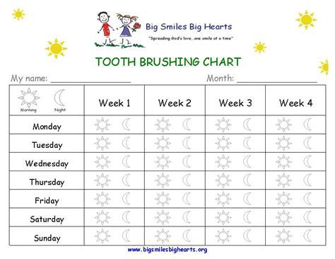 Teeth Brushing Chart Templates