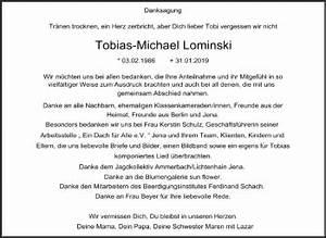 Super Sonntag Wittenberg : traueranzeigen von tobias michael lominski ~ Watch28wear.com Haus und Dekorationen