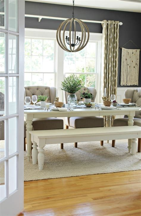 Rustic Modern Fall Dining Room + Tablescape