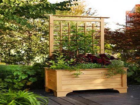 plans  raised planter box  trellis visit