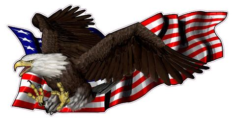united states flag  soaring eagle left decal