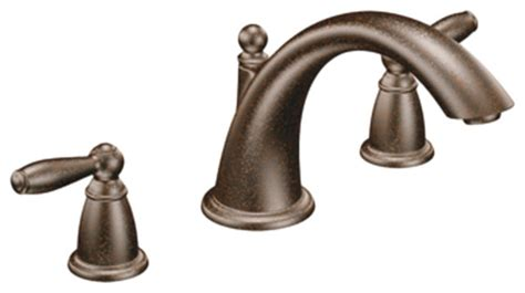 Moen Brantford Kitchen Faucet Rubbed Bronze by Moen T933orb Brantford Two Handle Low Arc Tub Faucet