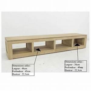 Meuble Tv Long : meuble tv bas et long ~ Teatrodelosmanantiales.com Idées de Décoration